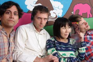 Deerhoof photographed by Eric Landmark