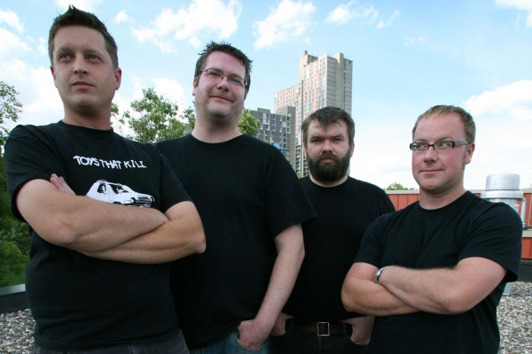 Dillinger Four photographed by Fat Wreck Chords