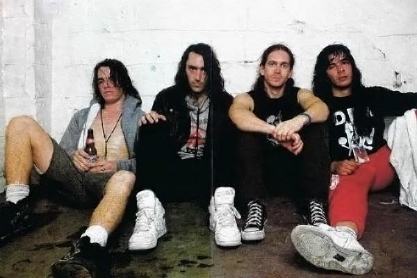 thrash metal white high tops