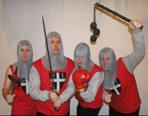 The Knights of the New Crusade photographed by Alternative Tentacles