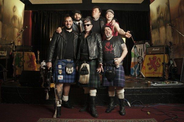 The Real McKenzies photographed by Kitt Woodland