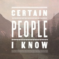 Certain People I Know - Certain People I Know (Cover Artwork)