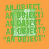 No Age - An Object (Cover Artwork)