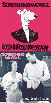 Screeching Weasel - Boogada Boogada Boogada / My Brain Hurts [reissues] (Cover Artwork)