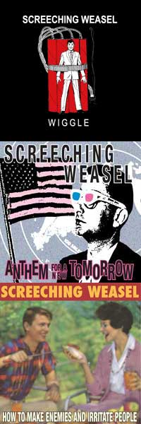 Screeching Weasel - Wiggle / Anthem ... / How to Make Enemies ... [reissues] (Cover Artwork)
