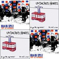 Unsacred Hearts / Man In Gray - Split 7-inch (Cover Artwork)